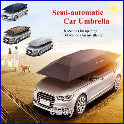 Portable Semi-automatic Outdoor Car Umbrella Sunshade Roof Cover Tent Protection