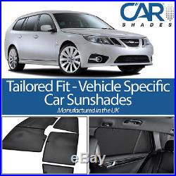 Saab 9-3 Estate 05-11 UV CAR SHADES WINDOW SUN BLINDS PRIVACY GLASS TINT BLACK