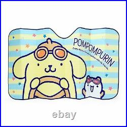 Sanrio Pompompurin Sunshade Car Goods For Windshield Only Japan