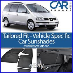 Seat Alhambra 5dr 95-06 UV CAR SHADES WINDOW SUN BLINDS PRIVACY GLASS TINT BLACK