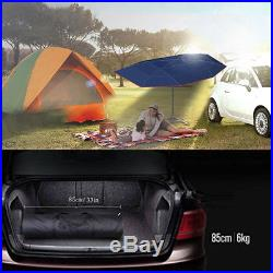 Semi-automatic Outdoor Car Vehicle Tent Umbrella Sunshade Roof Cover Anti-UV Kit