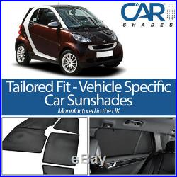 Smart Fortwo 2007-2014 UV CAR SHADES WINDOW SUN BLINDS PRIVACY GLASS TINT BLACK