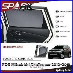 Sp Magnetic Car Window Sun Shade Blind Mesh For Mitsubishi Challenger 2010-2015