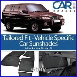 Ssangyong Musso 5dr 93-05 UV CAR SHADES WINDOW SUN BLINDS PRIVACY GLASS TINT