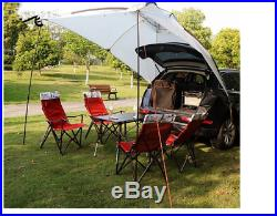 Tent 3-4 Persons Waterproof Camping Car Canopy Portable Car Side Sunshade