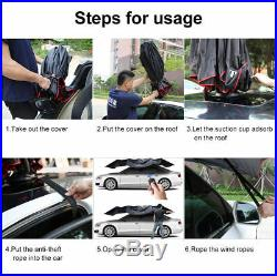 Universal Car Automatic Umbrella Tent Remote Anti Sunshade Waterproof Full Cover
