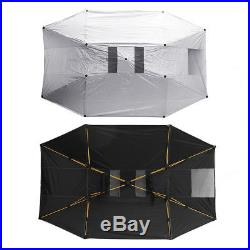 Universal Manual Outdoor Car Tent Umbrella Roof Sunshade Cover UV Protection Kit