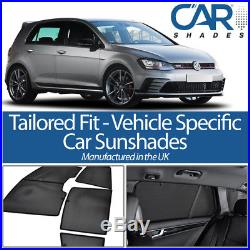 VW Golf 5dr MKVII 13 On UV CAR SHADES WINDOW SUN BLINDS PRIVACY GLASS TINT BLACK
