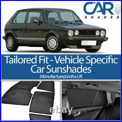 Volkswagen Golf 3dr 83-92 UV CAR SHADES WINDOW SUN BLINDS PRIVACY GLASS TINT
